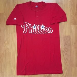 Majestic MLB Philadelphia Phillies Logo T-Shirt